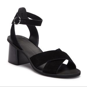 Dolce Vita Rayna Black Suede Stacked Sandal